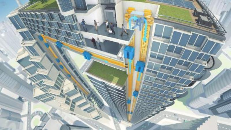 Un nouveau concept d'ascenseur va révolutionner les bâtiments de moyenne et grande hauteur