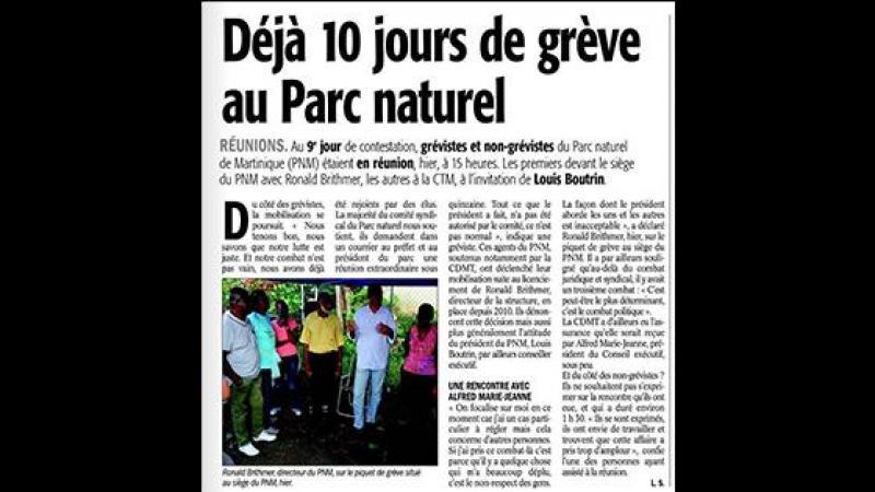 """Blocage du Parc Naturel de Martinique : """"Le combat le plus important est politique"""", dixit le DGS"""