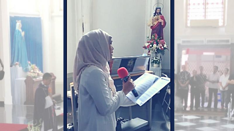 Quand les médias s'étonnent qu'une musulmane chante l'AVE MARIA lors de funérailles