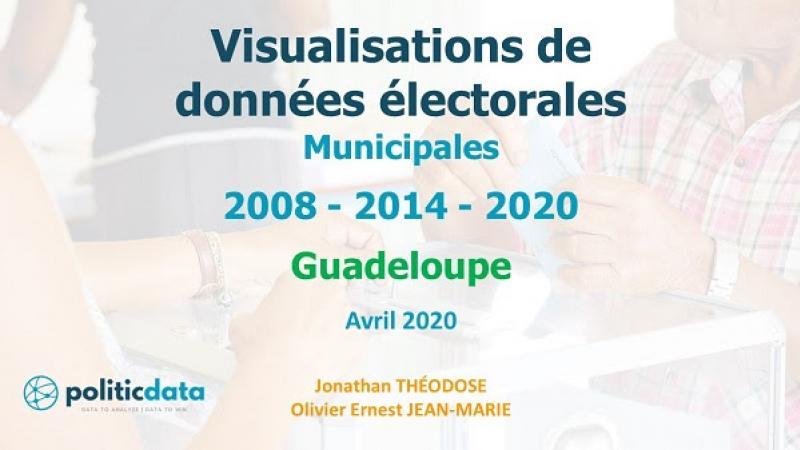Visualisations de données électorales Municipales 2008 - 2014 - 2020 Guadeloupe