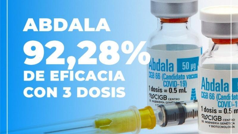 """""""Abdala"""", le vaccin cubain en 3 doses"""