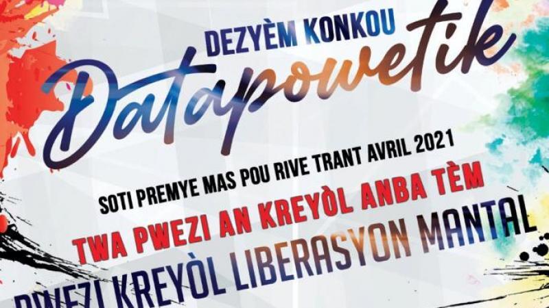 Lancement de la deuxième édition du concours de poésie baptisé Datapowetik par l'association Eritaj Kilti Kreyòl